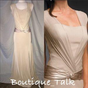 Formal Long Beige Gown